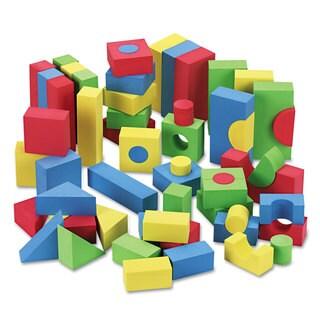 Chenille Kraft WonderFoam Blocks Assorted Colors 68/Pack