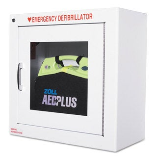 ZOLL AED Wall Cabinet 17-inch wide x 9 1/2-inch deep x 17h White