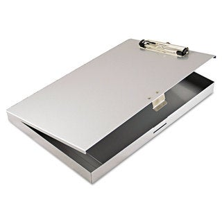 Saunders Tuffwriter Recycled Aluminum Storage Clipboard 1/2-inch Clip 8 1/2 x 12 Grey