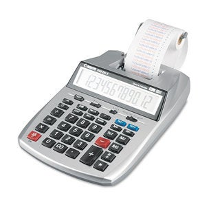 Canon P23-DHV 12-Digit Printing Calculator Purple/Red Print 2.3 Lines/Sec