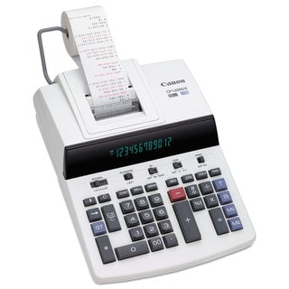 Canon CP1200DII 12-Digit Commercial Desktop Printing Calculator BK/RD Print 4.3L/Sec