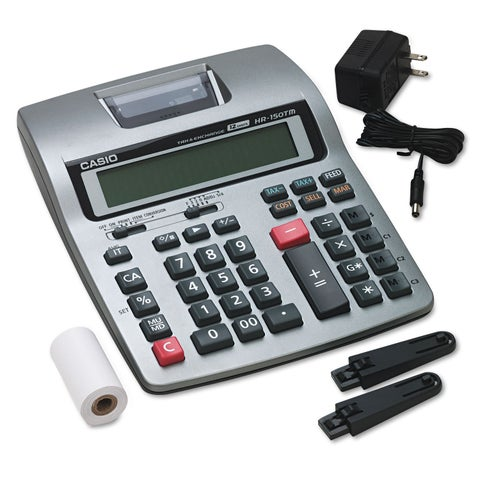 Casio HR-150TM Two-Color Printing Calculator Black/Red Print 2.4 Lines/Sec