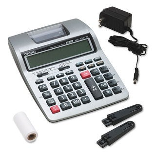 Casio HR-100TM Two-Color Portable Printing Calculator Black/Red Print 2 Lines/Sec