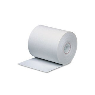 PM Company Single Ply Thermal Cash Register/POS Rolls 3 1/8-inch x 273-feet White 50/Carton