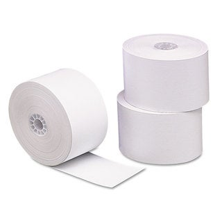 PM Company Single Ply Thermal Cash Register/POS Rolls 1 3/4 inches x 230 feet White 10/Pack