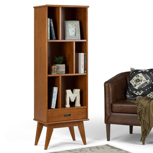Shop Wyndenhall Tierney Solid Hardwood 64 Inch X 22 Inch Mid Century Modern Bookcase And Storage Unit 22 W X 14 D X 64 H On Sale Overstock 13917182
