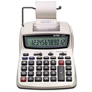 Victor 1208-2 Two-Color Compact Printing Calculator Black/Red Print 2.3 Lines/Sec