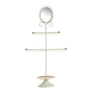 Ikee Design Metal Jewelry Display and Jewelry Stand Hanger Organizer with Mirror