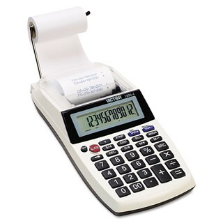 Victor 1205-4 Palm/Desktop One-Color Printing Calculator Black Print 2 Lines/Sec