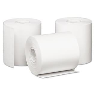 PM Company Single Ply Cash Register/POS Rolls 3-inch x 85-feet White 50/Carton
