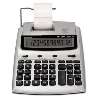 Victor 1212-3A Antimicrobial Printing Calculator Blue/Red Print 2.7 Lines/Sec