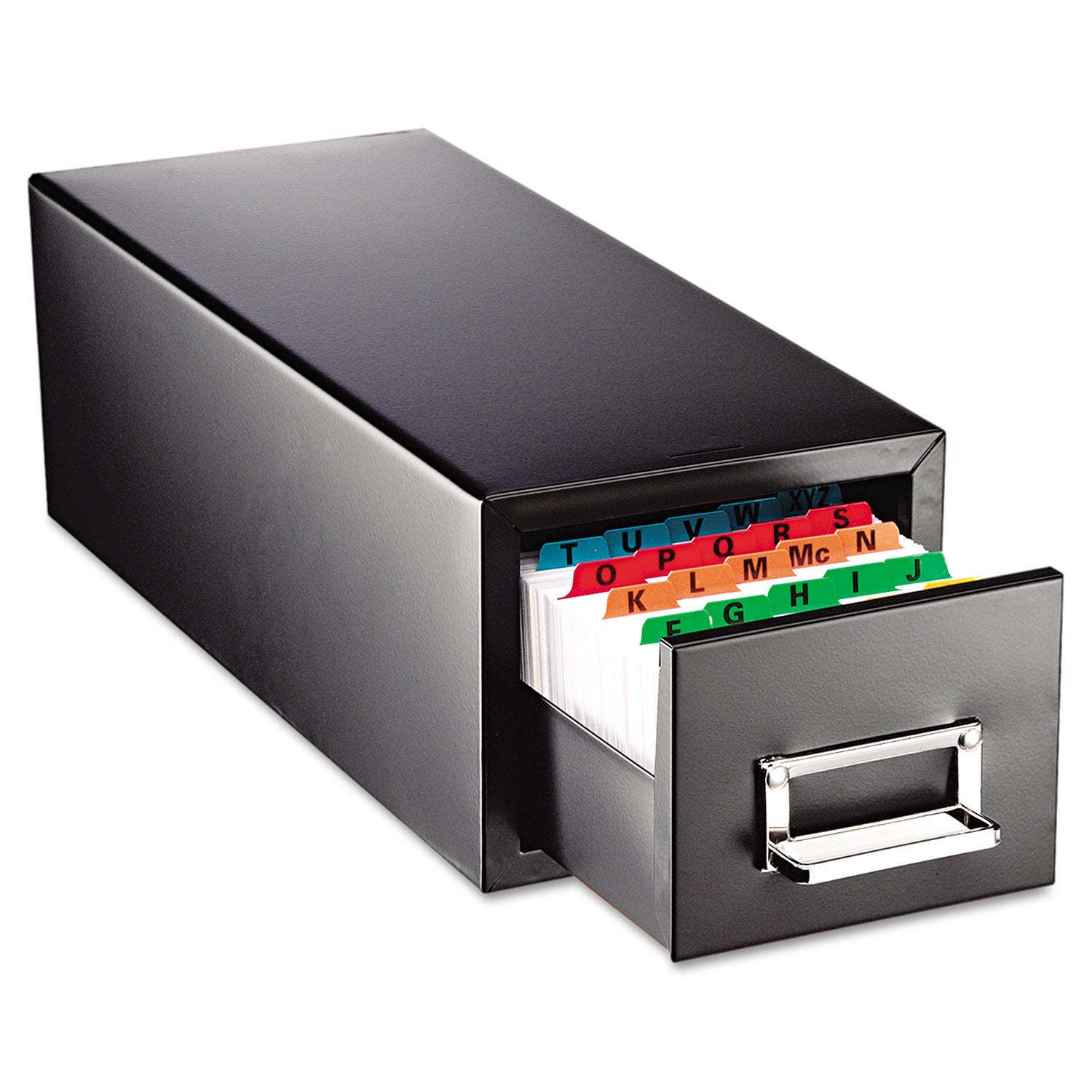 SteelMaster Drawer Card Cabinet Holds 1 500 5 x 8 cards 9...