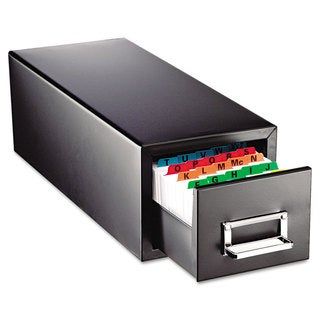 SteelMaster Drawer Card Cabinet Holds 1 500 5 x 8 cards 9 7/8 x 18 1/8 x 9