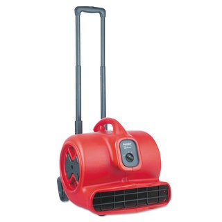 Sanitaire Commercial Three-Speed Air Mover with Built-on Dolly 5 amp Red 25 ft Cord