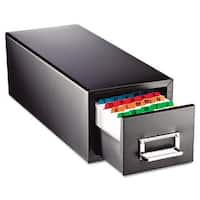 SteelMaster Drawer Card Cabinet Holds 1,500 3 x 5 cards 7 3/4 x 18 1/8 x 7