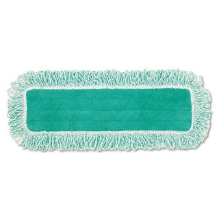 Rubbermaid Commercial Dust Pad with Fringe Microfiber 18 inches Long Green 6/Carton