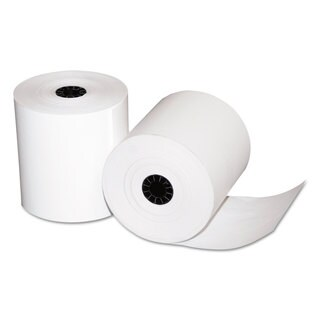 Quality Park Single-Ply Thermal Cash Register Rolls 3-1/8-inch x 230 feet White 50/Carton