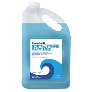 Boardwalk Industrial Strength Glass Cleaner with Ammonia 1 Gal Bottle 4/Carton