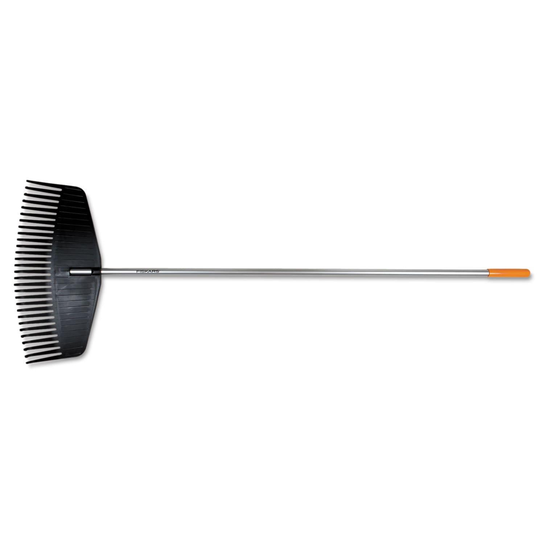 Fiskars Leaf Rake Cushioned Grip (Black/Orange) (Plastic)...
