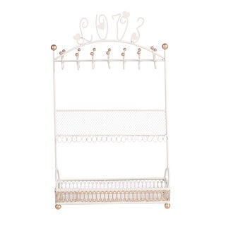 Ikee Design Off-white and Gold Metal Jewelry Display, Hanger, Organizer, and Stand