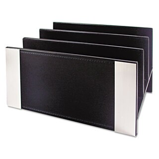 Artistic Architect Line Letter Sorter 3 Compartments 6 3/4 x 8 3/4 x 5 Black/Silver