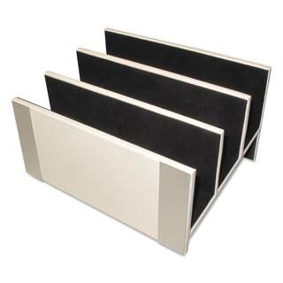 Artistic Architect Line Letter Sorter 3 Compartments 6 3/4 x 8 3/4 x 5 White/Silver
