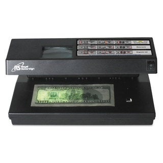 Royal Sovereign Portable 4-Way Counterfeit Detector UV Fluorescent Magnetic Magnifier