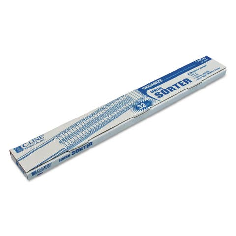 C-Line General Sorter A-Z/1-31/1000-1,000,000 Index, Letter Size, Blue - 2.5 x 23.5