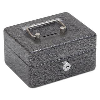 FireKing Hercules Cash Box Keylock Coin and Stamp 6-inch x 4 5/8-inch x 3-inch Charcoal Grey