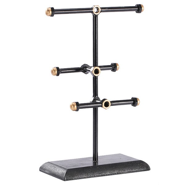 Ikee Design Black/Gold Metal Jewelry Stand