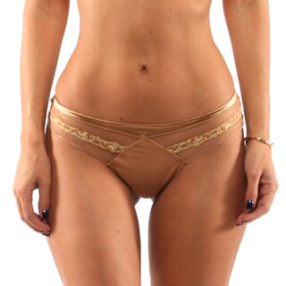 La Perla Gold Slip Thong