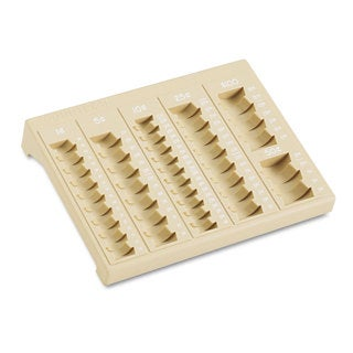 MMF Industries One-Piece Plastic Countex II Coin Tray with 6 Compartments Sand