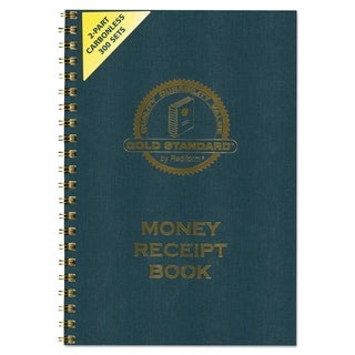 Rediform Money Receipt Book 7 x 2 3/4 Carbonless Duplicate Twin Wire 300 Sets/Book