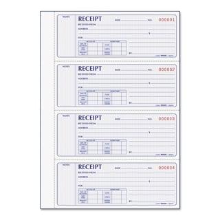 Rediform Receipt Book 2 3/4 x 7 Carbonless Duplicate 400 Sets/Book