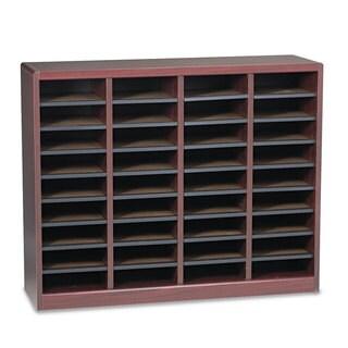 Safco Wood/Fiberboard E-Z Stor Sorter 36 Sections 40 x 11 3/4 x 32 1/2 Mahogany