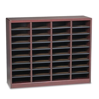 Safco Wood/Fiberboard E-Z Stor Sorter 36 Sections Mahogany - N/A