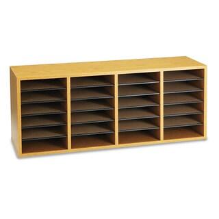 Safco Wood/Laminate Sorter 24 Sections 39 1/4 x 11 3/4 x 16 1/4 Medium Oak