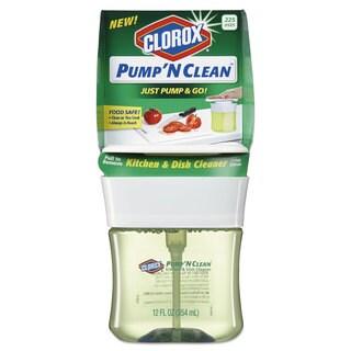 Clorox Pump 'N Clean Kitchen Cleaner Crisp Citrus Scent 12-ounce Pump Bottle 6/Carton