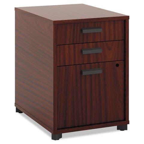 "HON Manage Pedestal File, 2 Pencil Drawers / 1 File Drawer, 15-3/4""W x 21""D x 22""H Office Storage"