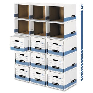 Bankers Box File/Cube Box Shell Legal/Letter 12 x 15 x 10 White/Blue