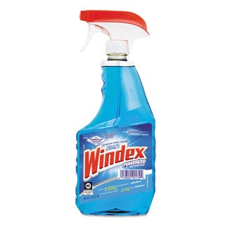 Windex Ammonia-D Glass Cleaner 32-ounce Spray Bottle,12/Carton