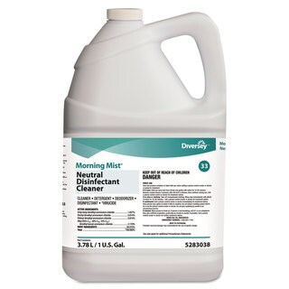 Diversey Morning Mist Neutral Disinfectant Cleaner Fresh Scent 1gal Bottle