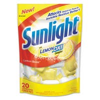 Sunlight Auto Dish Power Pacs Lemon Scent 1.5-ounce Single Dose Pouches 20/Pack