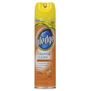 Pledge Furniture Polish Orange Clean Scent 9.7-ounce Aerosol 12/Carton