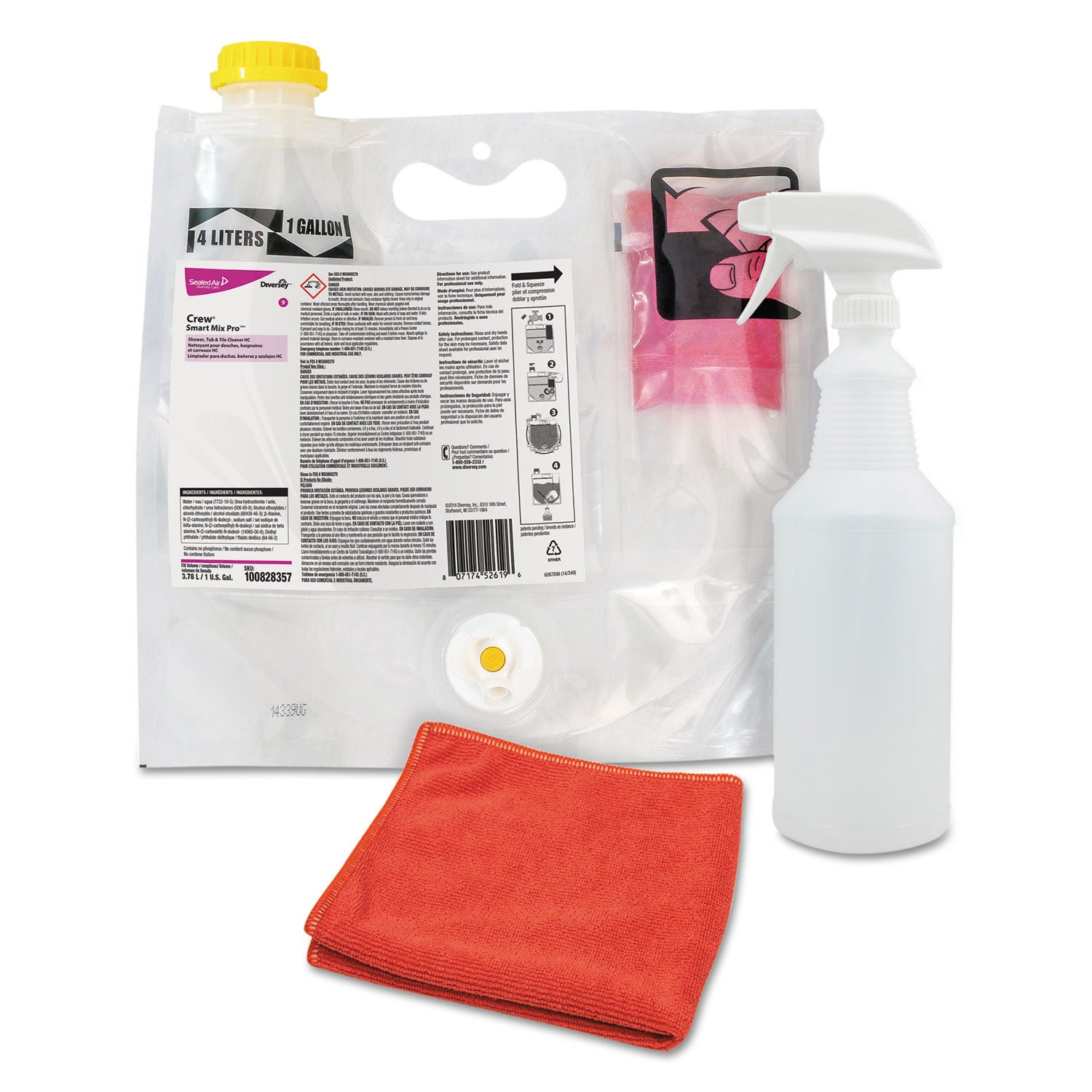 Diversey Crew Concentrated Shower Tub and Tile Cleaner Fr...