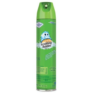 Scrubbing Bubbles Multi Surface Bathroom Cleaner Clean Fresh Scent 25-ounce Aerosol Can 12/Carton