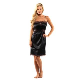La Perla Nero Sottoveste Corta Nightgown