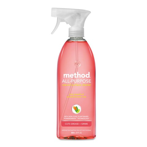 Method All Surface Cleaner Pink Grapefruit 28-ounce Bottle 8/Carton