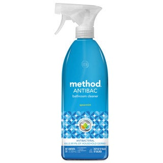 Method Antibacterial Spray Bathroom Spearmint 28-ounce Bottle 8/Carton