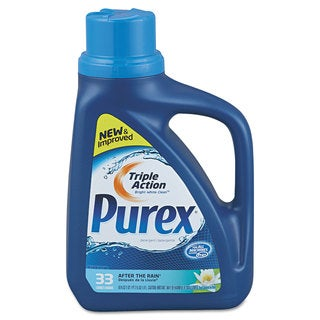 Purex Liquid HE Detergent After the Rain Scent 50-ounce Bottle 6/Carton